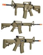 Lancer Tactical SOPMOD M4 Military Issue Airsoft Gun in Tan LT-04T-G2