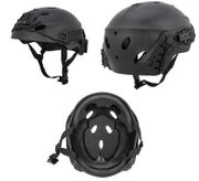 Lancer Tactical Special Forces Recon Style Airsoft Mil-Sim Railed Helmet in Black CA-1246B