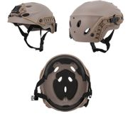 Lancer Tactical Special Forces Recon Style Airsoft MilSim Railed Helmet in Dark Earth Tan CA-1246T