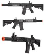 Lancer Tactical Suppressed M4 SD 9 Inch Airsoft Gun AEG in Black LT-15CB-G2