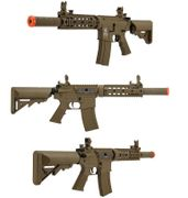 Lancer Tactical Proline Suppressed M4 SD 7 Inch Airsoft Gun in Tan LOW FPS LT-15TL-G2