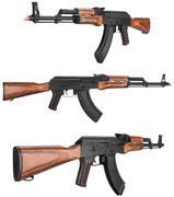 LCT Russian AK-47 LCKM AR Airsoft Gun with Real Wood Furniture & Stamped Steel Receiver LCT-LCKM-AEG