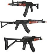 LCT Russian G04 AK-47 NV Soviet Replica Airsoft Gun with Real Wood Handguard & Folding Stock LCT-G-04-AEG