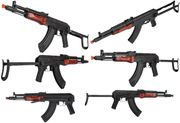 LCT MG-MS NV Full Metal Russian AK-47 Airsoft Gun with Real Wood Furniture LCT-MG-MS-AEG
