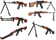 LCT RPK Airsoft Gun with Stamped Steel Receiver, Real Wood Furniture, & Fold Up Bipod