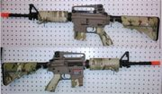MultiCam and Tan JG Golden Eagle Super Enhanced M4A1 Carbine Airsoft Gun F6604