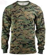 Rothco Long Sleeve Woodland Digital Marpat Camouflage Shirt 5495