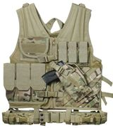 Rothco Cross Draw Pistol MOLLE Tactical Vest in Crye MultiCam