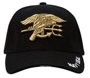Navy Seal Trident Deluxe Low Profile Embroidered Insignia Baseball Hat Cap