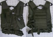 NcStar VISM Kids Youth Size Cross Draw Tactical Vest in OD Green