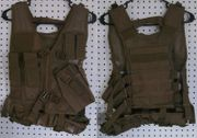 NcStar VISM Kids Youth Size Cross Draw Tactical Vest in Tan