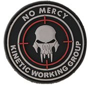 No Mercy Kinetic Working Group PVC Airsoft Milsim Team Hook and Loop Morale Patch