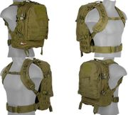 OD Green 600D Polyester Lancer Tactical EDC FAST MOLLE Pack Backpack CA-353G