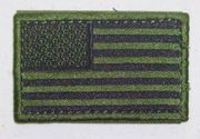 OD Green USA Flag Patch Left Shoulder