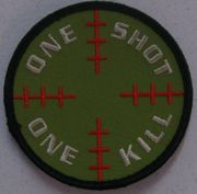 One Shot One Kill Sniper Scope Reticle Airsoft Milsim Hook and Loop Morale Patch