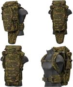 Lancer Tactical Escape and Evasion Survivalist Rifle Carry Pack Backpack in PC Green Zone Camo CA-356P