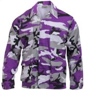 Rothco BDU Battle Duty Uniform Shirt in Purple Ultra Violet Fashion Camouflage 7910