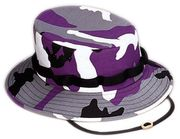 Rothco Military Style Cotton Polyester Violet Purple Camouflage Boonie Hat