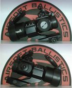 Lancer Tactical Airsoft Gun Red & Green Dot Reticle Sight on Cantilever 20MM Mount with Flip Up Lens Covers CA-445B