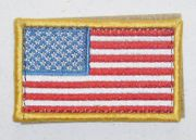 Red White and Blue Flag Patch Left Shoulder