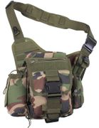 Rothco Advanced Tactical Concealed Carry Operator Shoulder Hip Bag in Woodland Camo