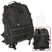 Rothco Large MOLLE Tactical Survival Gear Hydration Transport Pack in Black 7287