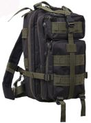 Rothco Medium Size Tactical MOLLE Survival Gear Transport Pack in Black with Olive Drab Accents 2247