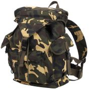 Rothco Canvas Outdoorsman Rucksack Backpack in Woodland Camo