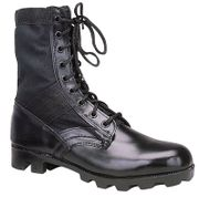 Classic 8 Inch Military Jungle Boots in Black