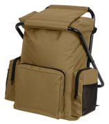 Coyote Brown Backpack and Stool Combo Pack
