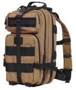 Rothco Medium Size Tactical MOLLE Survival Gear Transport Pack in Coyote Brown with Black Accents 2647