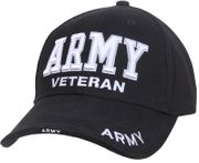 Army Veteran Deluxe Low Profile Embroidered Baseball Hat Cap