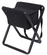 Hunting Camping Deluxe Stool with Pouch in Black