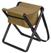 Hunting Camping Deluxe Stool with Pouch in Coyote Brown