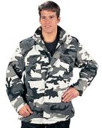 Tactical Operator M-65 Water Resistant Military Style Field Jacket in Snow City Digital Marpat Camo
