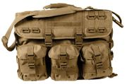 Rothco MOLLE Tactical Laptop Operators Briefcase Do All Carry Bag in Coyote Brown