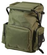 Olive Drab Backpack and Stool Combo Pack