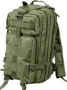 Rothco Medium Size Tactical MOLLE Survival Gear Transport Pack in Olive Drab OD Green 2584