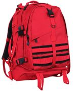 Rothco Large MOLLE Tactical Survival Gear Hydration Transport Pack in Red 72977