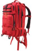 Rothco Medium Size Tactical MOLLE Survival Gear Transport Pack in Red 2977