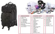 Rothco Tactical Survival Military First Aid Medic Trauma Kit in Transport Pack in Black