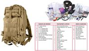 Rothco Tactical Survival Military First Aid Medic Trauma Kit in Transport Pack in Coyote Brown