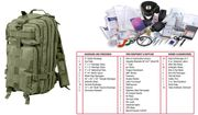 Rothco Tactical Survival Military First Aid Medic Trauma Kit in Transport Pack in OD Green