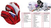 Rothco Tactical Survival Military First Aid Medic Trauma Kit in Transport Pack in Red