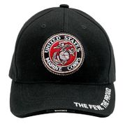 The Few The Proud United States Marine Corps with Globe and Anchor Deluxe Low Profile Baseball Hat Cap