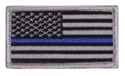 Thin Blue Line U.S. Police Flag Hook and Loop Morale Patch