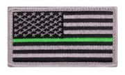 Thin Green Line U.S. Flag Hook and Loop Morale Patch