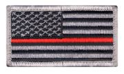 Thin Red Line U.S. Flag Hook and Loop Morale Patch
