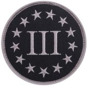 Three Percenter Hook and Loop Morale Patch