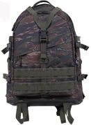 Rothco Large MOLLE Tactical Survival Gear Transport Pack in Vietnam Tiger Stripe Camo 7222